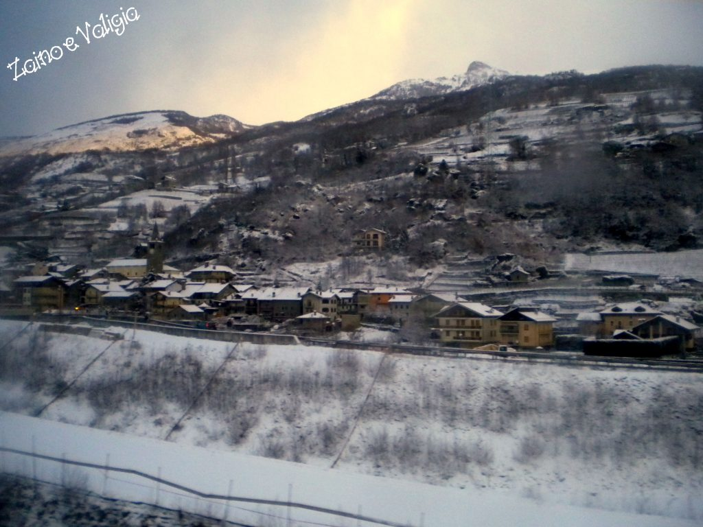 paesaggio neve aosta