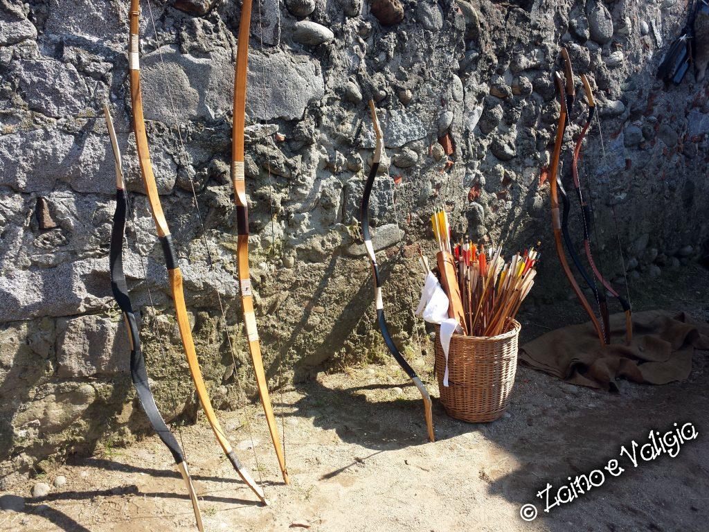 archi  e frecce ricetto di candelo