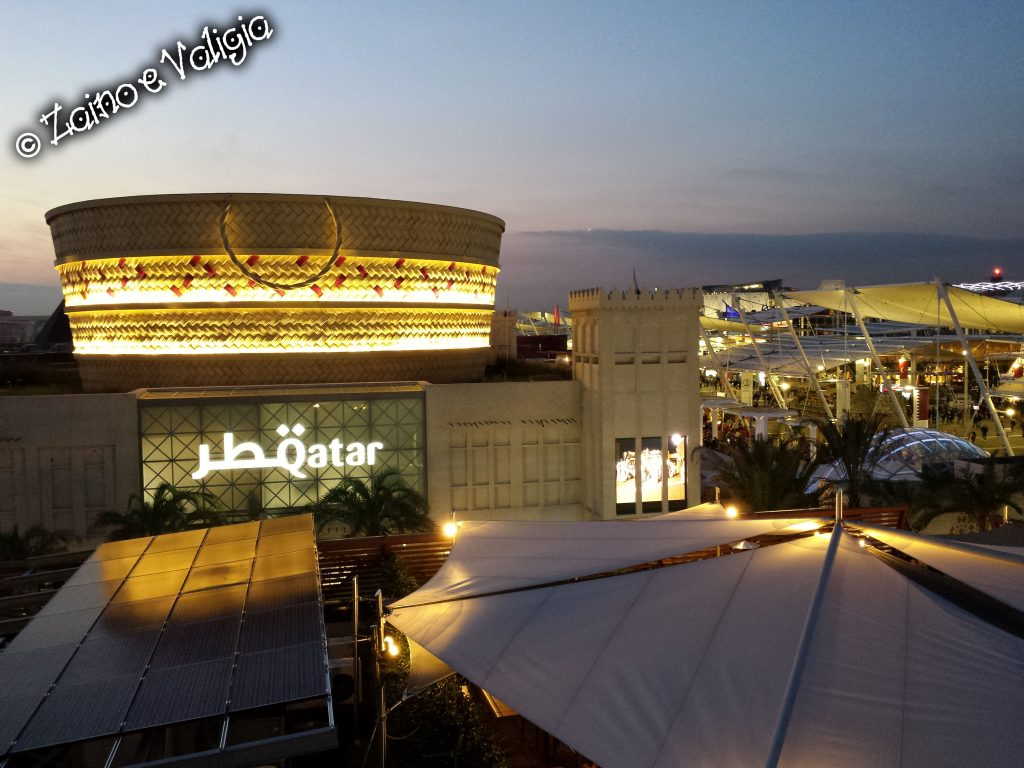 qatar expo by night