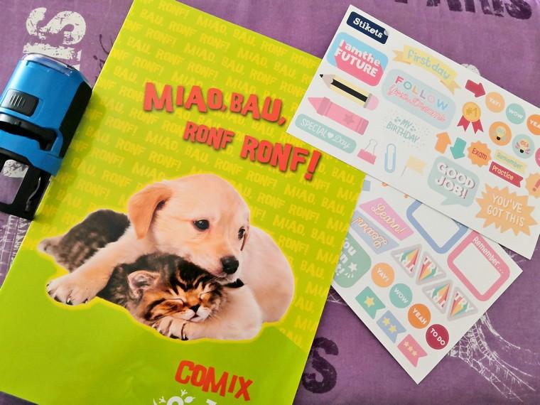 adesivi personalizzati quaderni